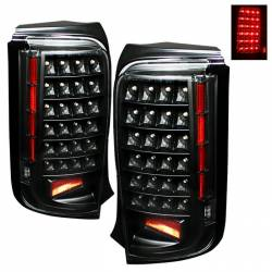 SCION LIGHTING PARTS - Scion Tail Lights - Spyder - Spyder Black LED Tail Lights: Scion xB 2008 - 2010 (xB2)
