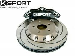 "SCION BRAKE PARTS - Scion Big Brake Kit - KSport - K Sport ProComp 14"" 4-Piston Rear Big Brake Kit: Scion xB 2008 - 2015 (xB2)"
