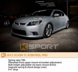KSport - K Sport Kontrol Pro Coilovers: Scion tC 2011 - 2016 (tC2) - Image 5