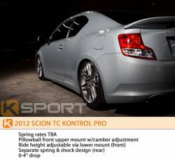 KSport - K Sport Kontrol Pro Coilovers: Scion tC 2011 - 2016 (tC2) - Image 6