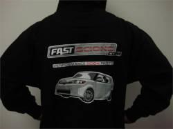 FastScions - FastScions Scion xB Hoodie Sweatshirt (Black) - Image 2