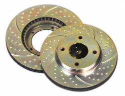 SCION BRAKE PARTS - Scion Brake Rotors - EBC - EBC 3GD Drilled & Slotted Front Brake Rotors: Scion iQ 2012 - 2016