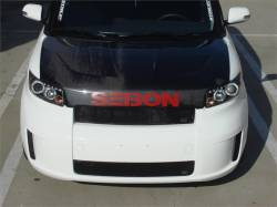 SCION CARBON FIBER PARTS - Scion Carbon Fiber Hood - Seibon - Seibon DV Carbon Fiber Hood: Scion xB 2008 - 2015 (xB2)