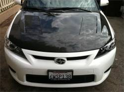 SCION CARBON FIBER PARTS - Scion Carbon Fiber Hood - Seibon - Seibon TS Carbon Fiber Hood: Scion tC 2011 - 2013 (tC2)
