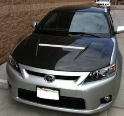 SCION CARBON FIBER PARTS - Scion Carbon Fiber Hood - Seibon - Seibon VSII Carbon Fiber Hood: Scion tC 2011 - 2013 (tC2)