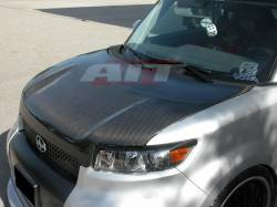 SCION CARBON FIBER PARTS - Scion Carbon Fiber Hood - AIT Racing - AIT Racing Euro Carbon Fiber Hood: Scion xB 2008 - 2015 (xB2)