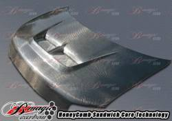 Scion xB2 Exterior Parts - Scion xB2 Hood - AIT Racing - AIT Racing Monster Carbon Fiber Hood: Scion xB 2008 - 2015 (xB2)