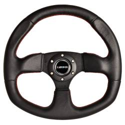 Scion xA Interior Parts - Scion xA Steering Wheel - NRG Innovations - NRG Innovations Flat Bottom Steering Wheel (320mm)