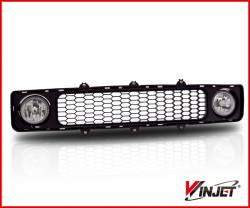 Scion tC Lighting Upgrades - Scion tC Fog Lights - Winjet - Winjet Lower Grille w/ Fog Lights (Clear): Scion tC 2005 - 2010