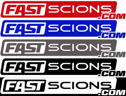 Shop by Part - SCION SWAG - FastScions - FastScions Stickers (Choose Color)