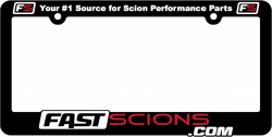 Shop by Part - SCION SWAG - FastScions - FastScions License Plate Frame