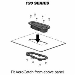 AeroCatch - AeroCatch Flush Hood Pin and Latch Kit (Universal) BLACK - LOCKING - Image 3
