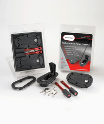 AeroCatch - AeroCatch Flush Hood Pin and Latch Kit (Universal) BLACK - LOCKING - Image 2