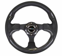 SCION INTERIOR PARTS - Scion Steering Wheels / Quick Release - NRG Innovations - NRG Innovations RST-001 Pilota Leather Steering Wheel (320mm)