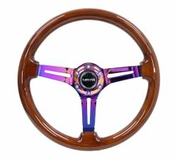 SCION INTERIOR PARTS - Scion Steering Wheels / Quick Release - NRG Innovations - NRG Innovations RST-018 Wood Deep Dish Steering Wheel (350mm)
